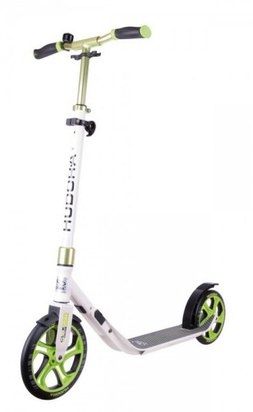"City Scooter Hudora CLVR 10"" 250mm weiß/grün CLVR Faltmechanismus"