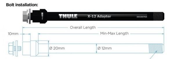 Thule Thru Axle Maxle (M12 x 1.75) Adapter