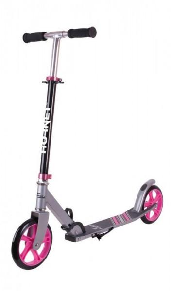 "City Scooter Hornet Alu/Stahl 8"" 200 schwarz/pink 200mm"